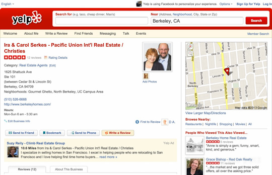 Ira & Carol Serkes Yelp Reviews
