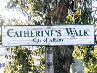 Catherine's Walk Sign