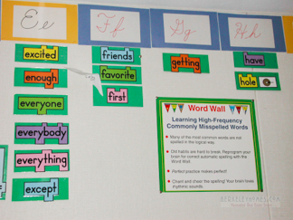 Thousand Oaks School - Word Wall