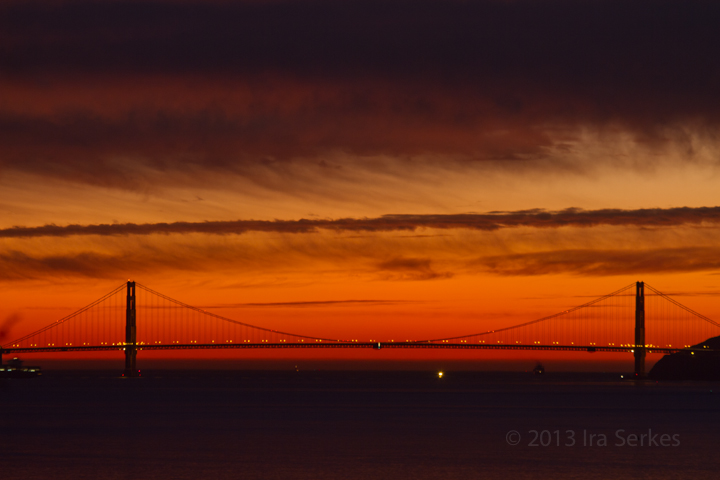 Albany Hill Golden Gate Bridge Sunset