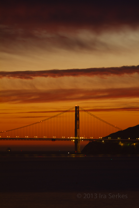 Golden Gate Bridge Sunset from Albany Hill